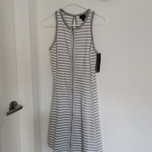 NWT Mossimo Grey/white striped summer dress